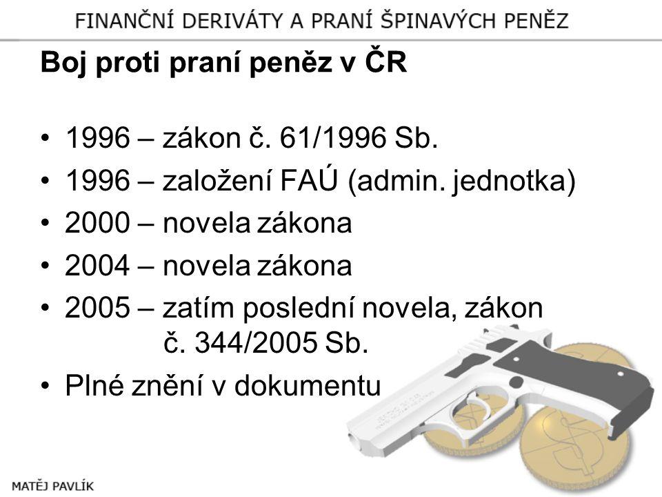 Boj proti praní peněz v ČR