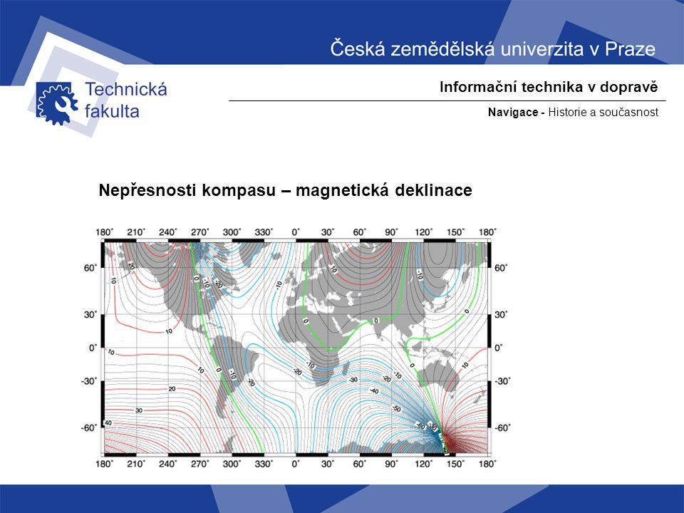 Nepřesnosti kompasu – magnetická deklinace