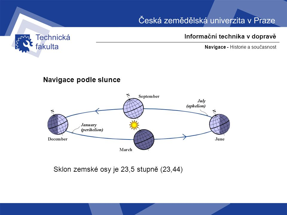 Sklon zemské osy je 23,5 stupně (23,44)