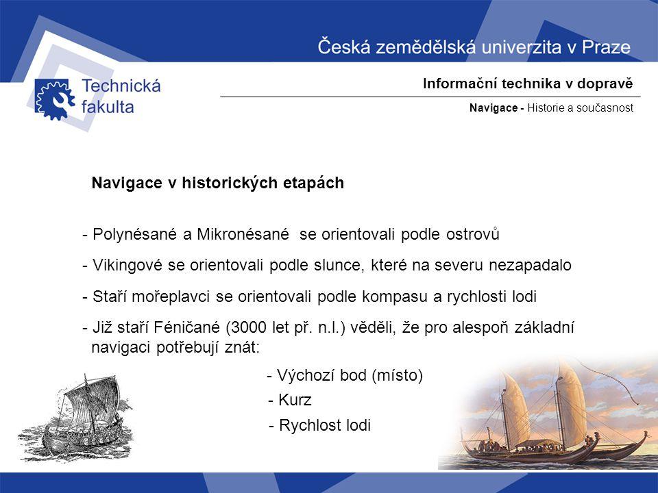 Navigace v historických etapách
