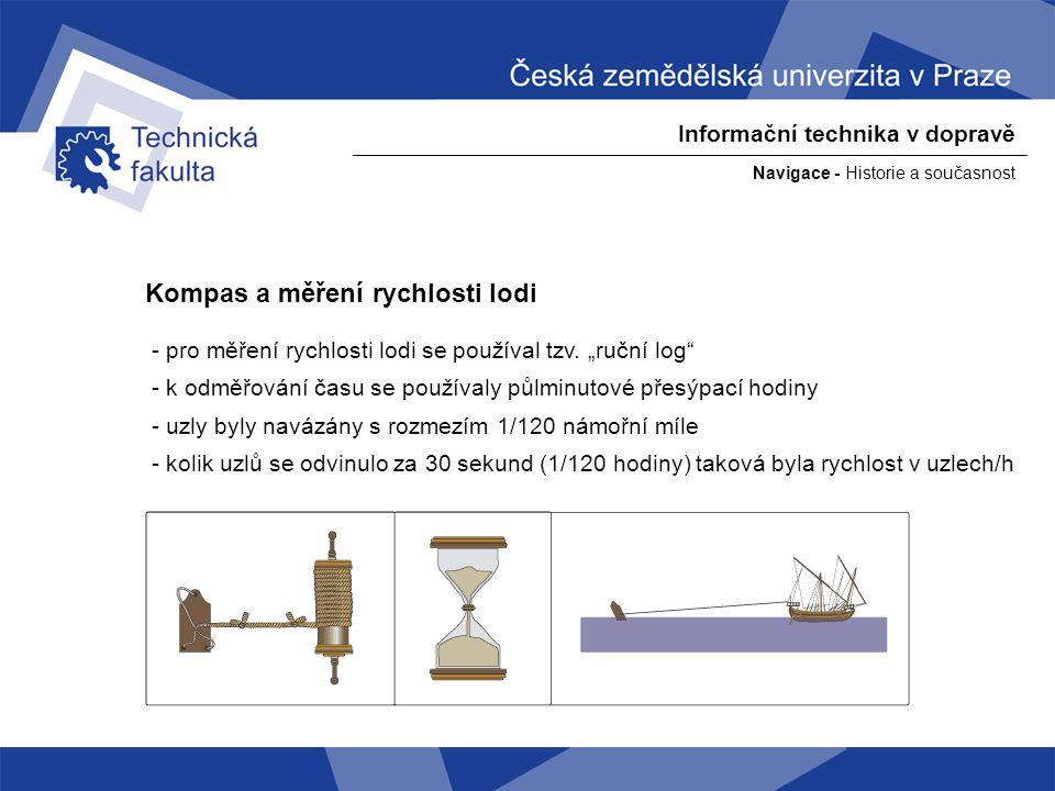 Kompas a měření rychlosti lodi