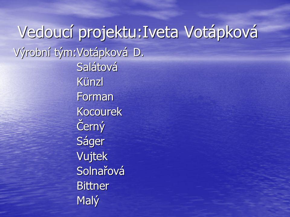 Vedoucí projektu:Iveta Votápková