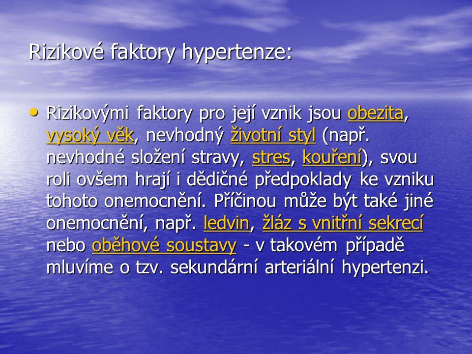 Rizikové faktory hypertenze: