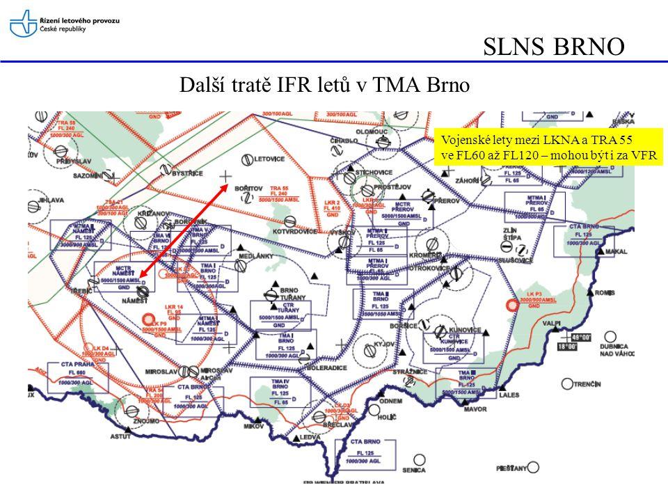 SLNS BRNO Další tratě IFR letů v TMA Brno