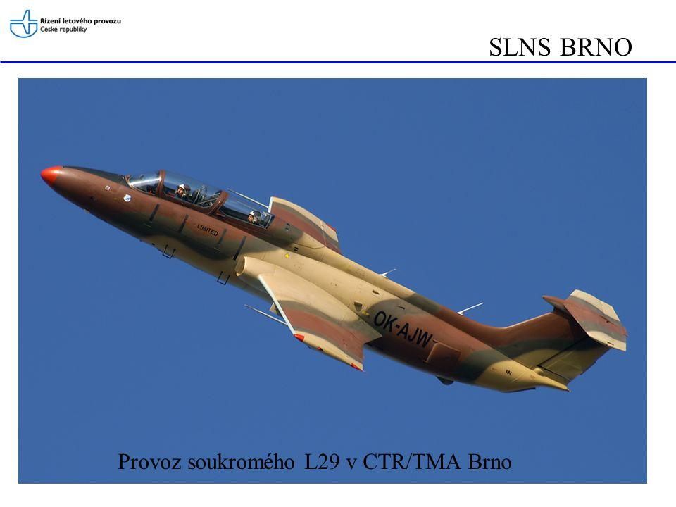 SLNS BRNO Provoz soukromého L29 v CTR/TMA Brno