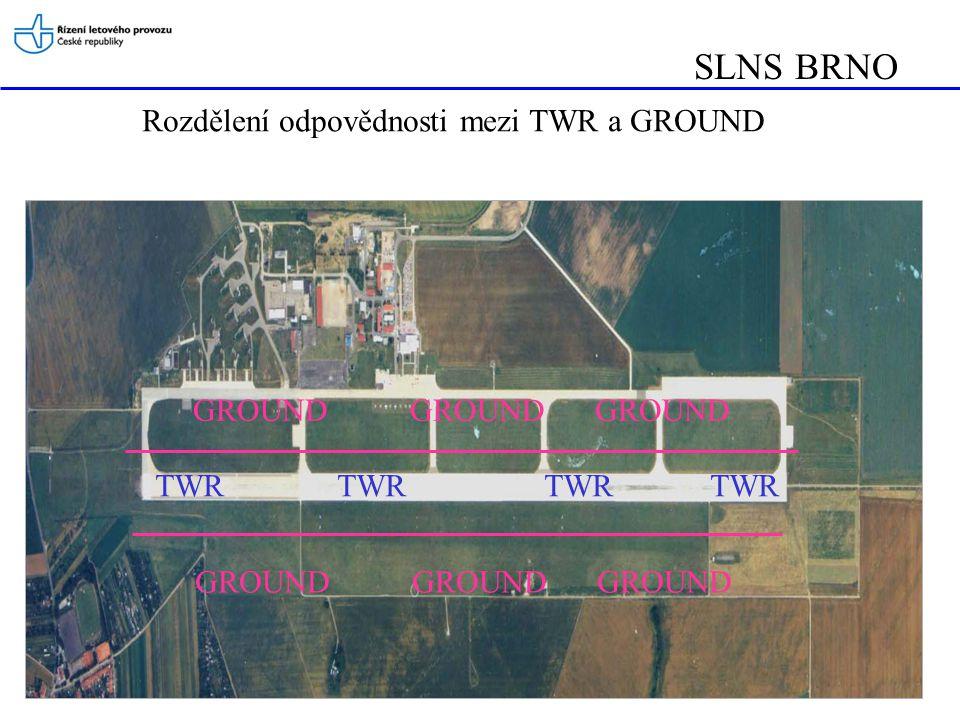 SLNS BRNO Rozdělení odpovědnosti mezi TWR a GROUND