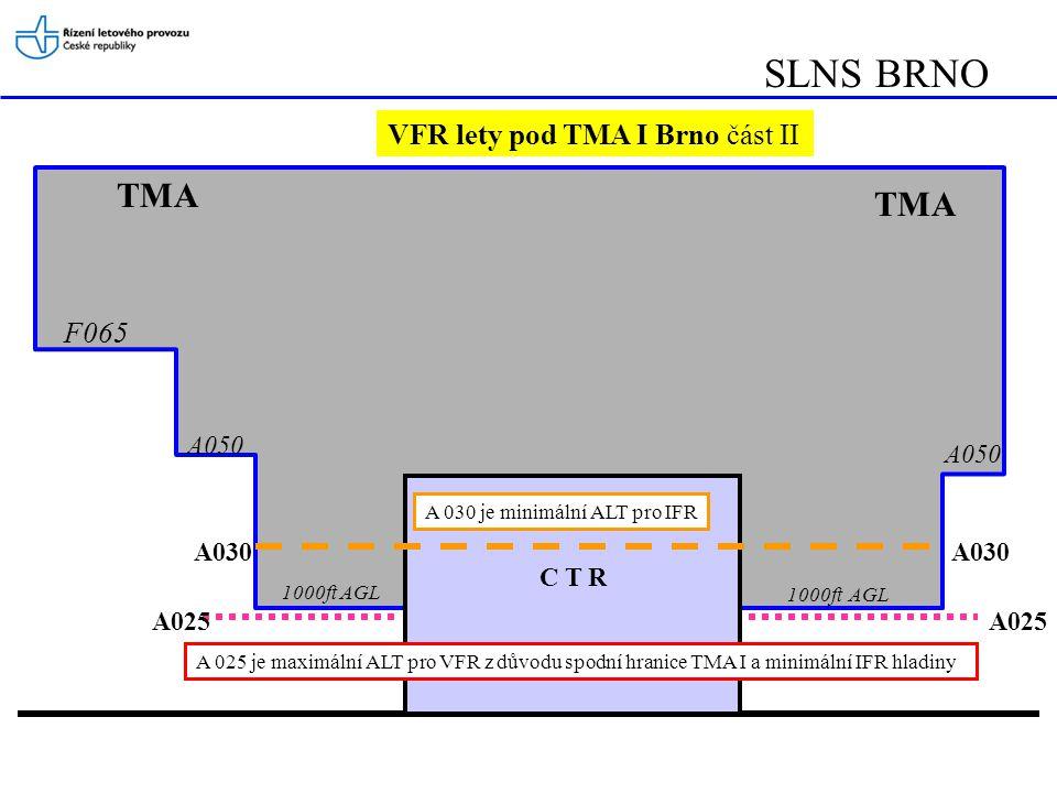 SLNS BRNO TMA TMA VFR lety pod TMA I Brno část II F065 A050 A050 A030