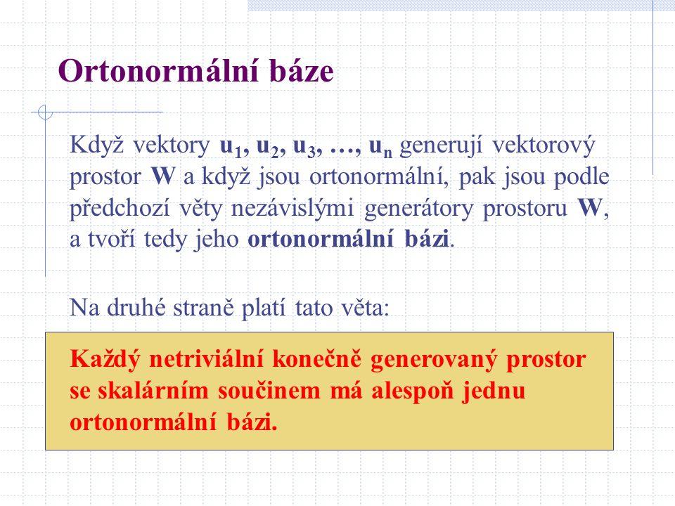 Ortonormální báze