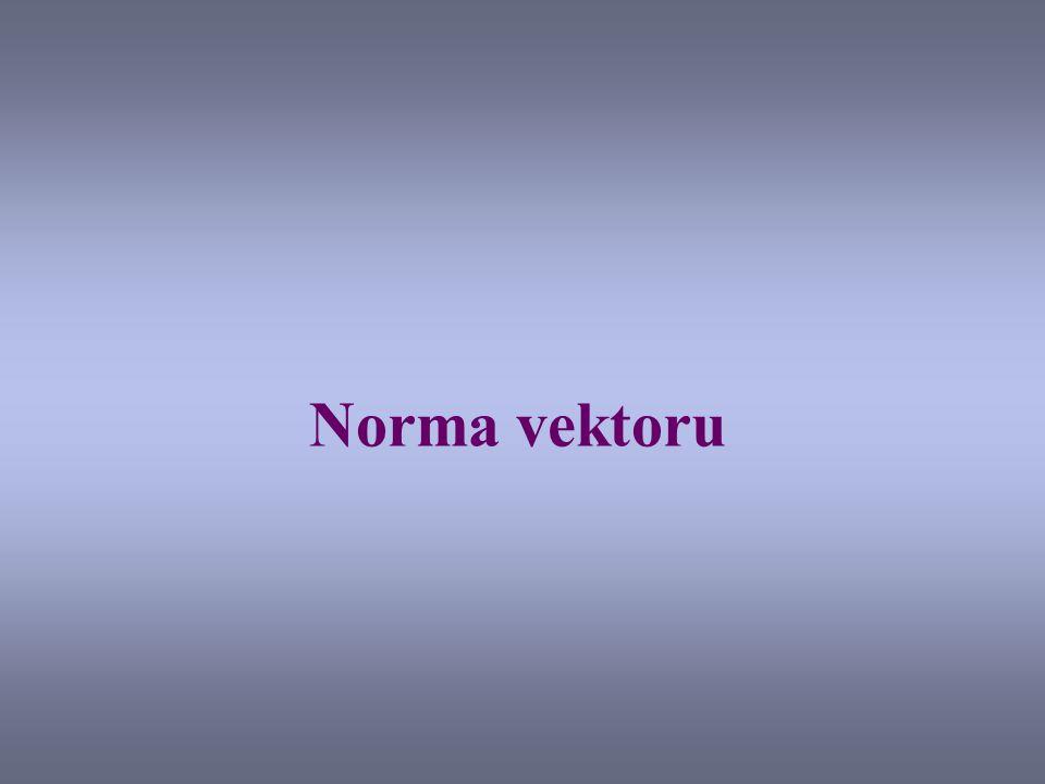 Norma vektoru