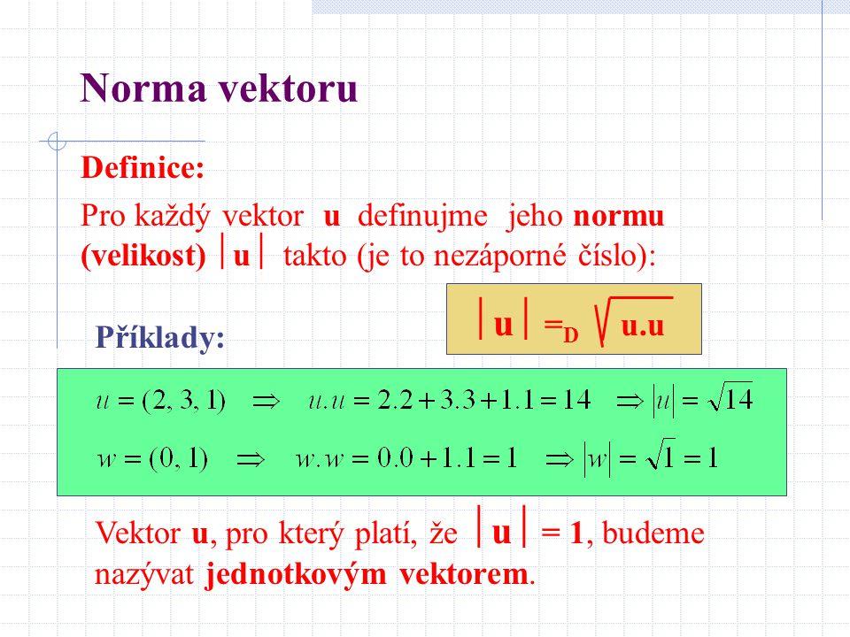 Norma vektoru Definice: