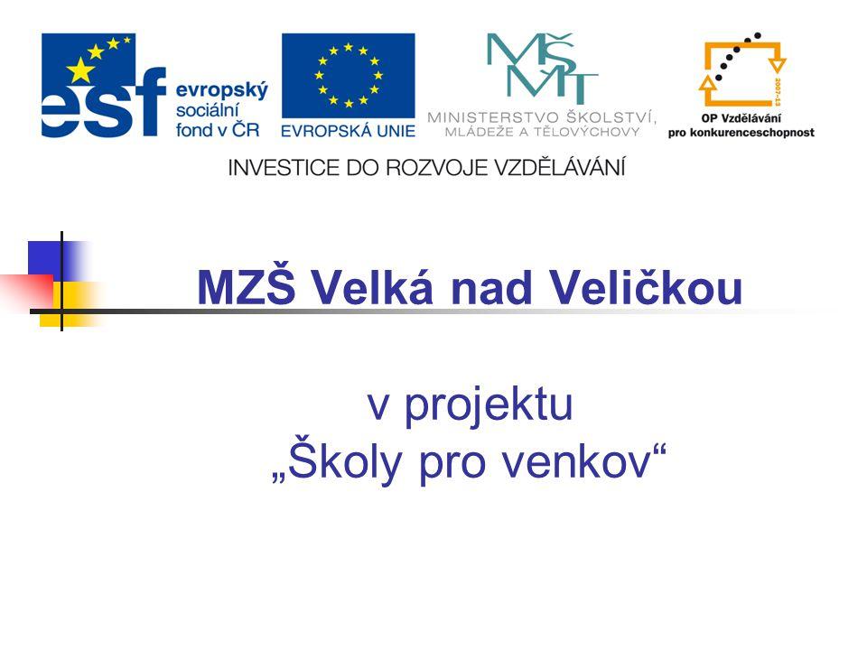 """MZŠ Velká nad Veličkou v projektu """"Školy pro venkov"""