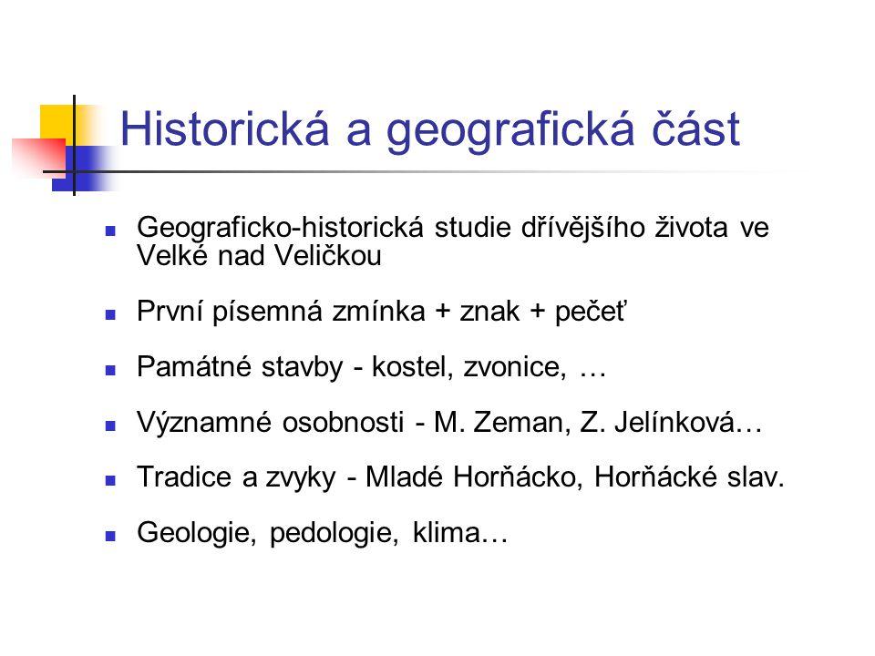 Historická a geografická část