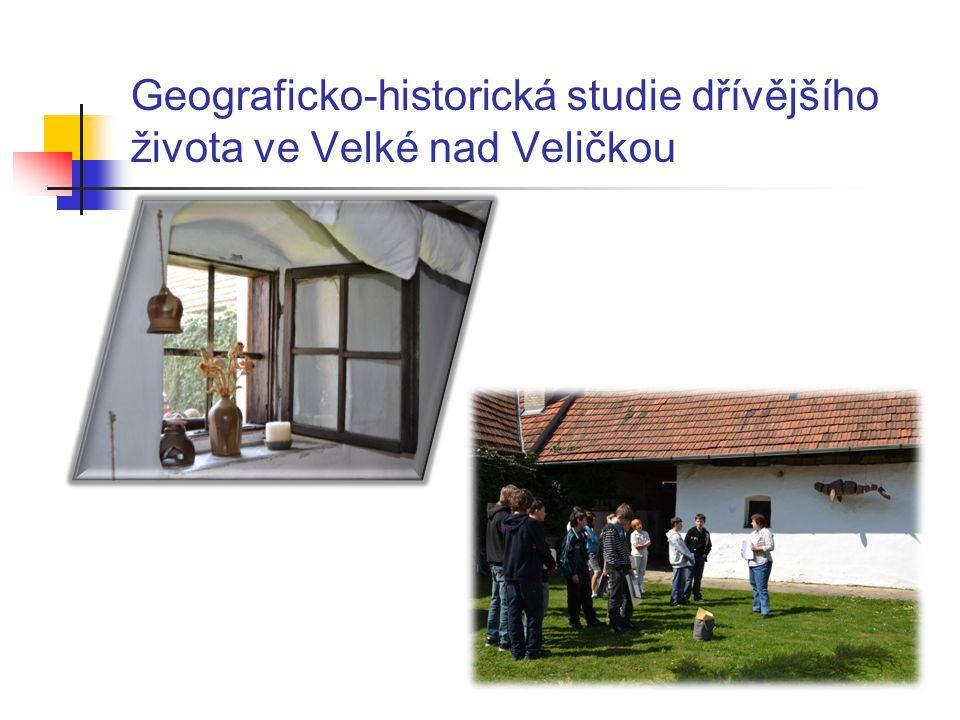 Geograficko-historická studie dřívějšího života ve Velké nad Veličkou
