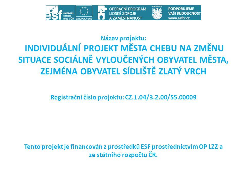 Registrační číslo projektu: CZ.1.04/3.2.00/55.00009