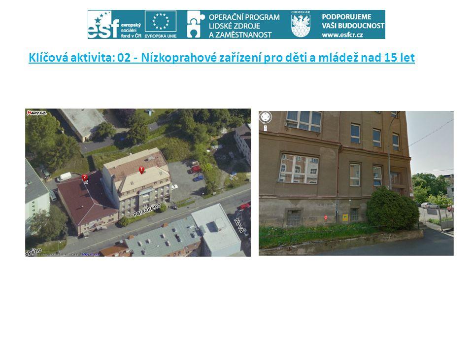 Klíčová aktivita: 02 - Nízkoprahové zařízení pro děti a mládež nad 15 let