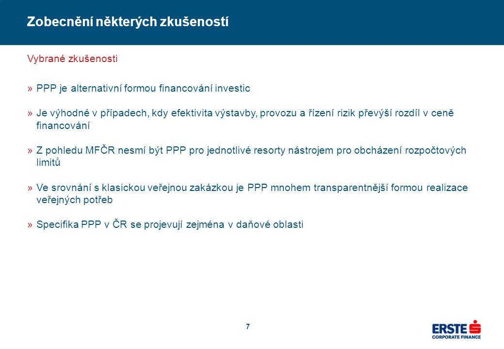 Erste CF připravuje několik PPP projektů
