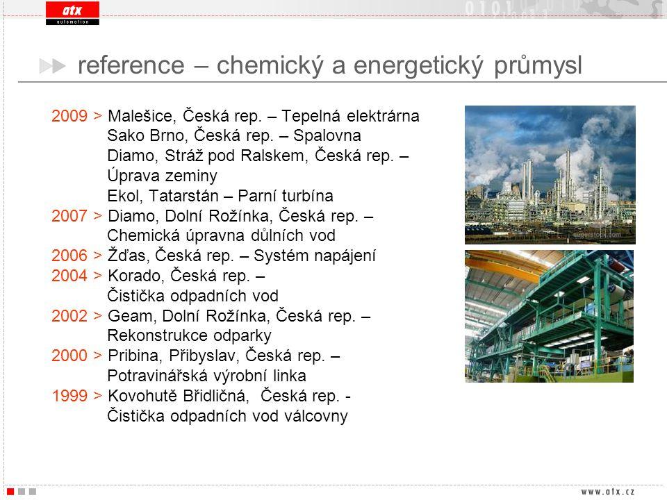 reference – chemický a energetický průmysl