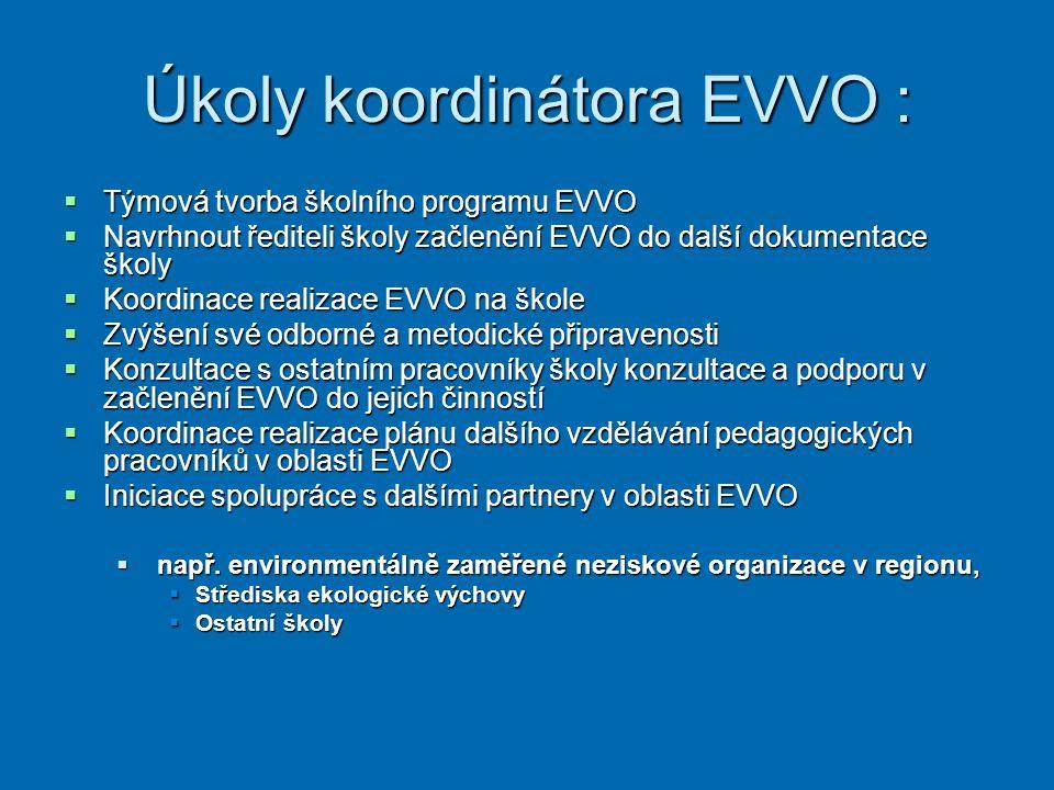 Úkoly koordinátora EVVO :