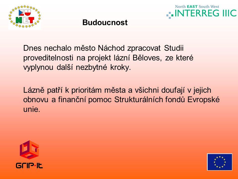 Budoucnost Dnes nechalo město Náchod zpracovat Studii proveditelnosti na projekt lázní Běloves, ze které vyplynou další nezbytné kroky.