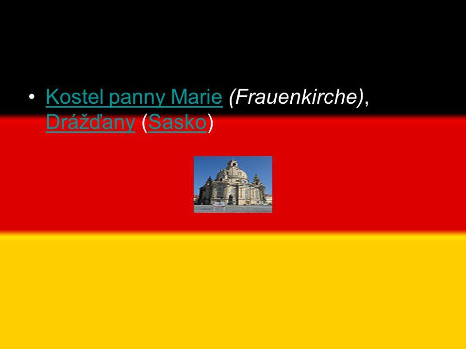 Kostel panny Marie (Frauenkirche), Drážďany (Sasko)