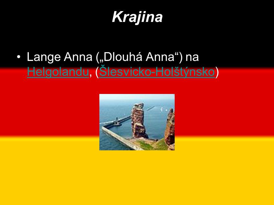 """Krajina Lange Anna (""""Dlouhá Anna ) na Helgolandu, (Šlesvicko-Holštýnsko)"""