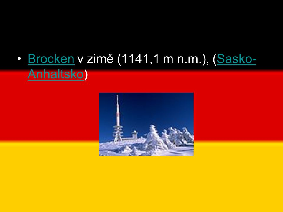Brocken v zimě (1141,1 m n.m.), (Sasko-Anhaltsko)