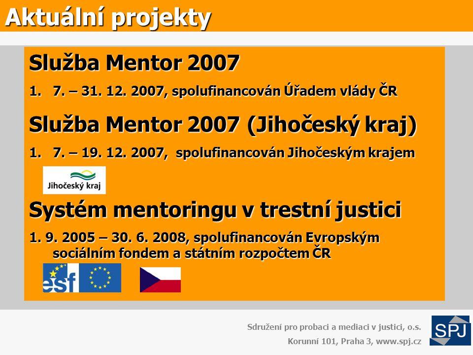 Aktuální projekty Služba Mentor 2007