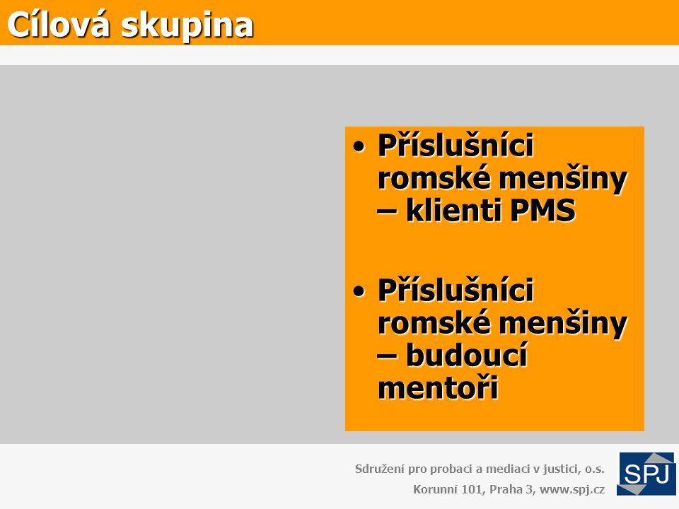Cílová skupina Příslušníci romské menšiny – klienti PMS