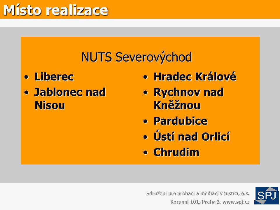 Místo realizace NUTS Severovýchod Liberec Jablonec nad Nisou