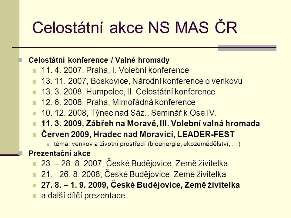 Celostátní akce NS MAS ČR