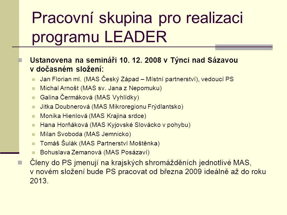 Pracovní skupina pro realizaci programu LEADER