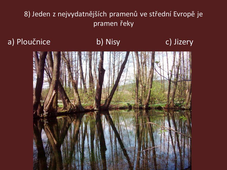 8) Jeden z nejvydatnějších pramenů ve střední Evropě je pramen řeky