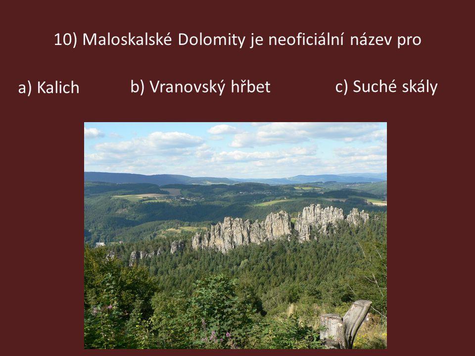 10) Maloskalské Dolomity je neoficiální název pro