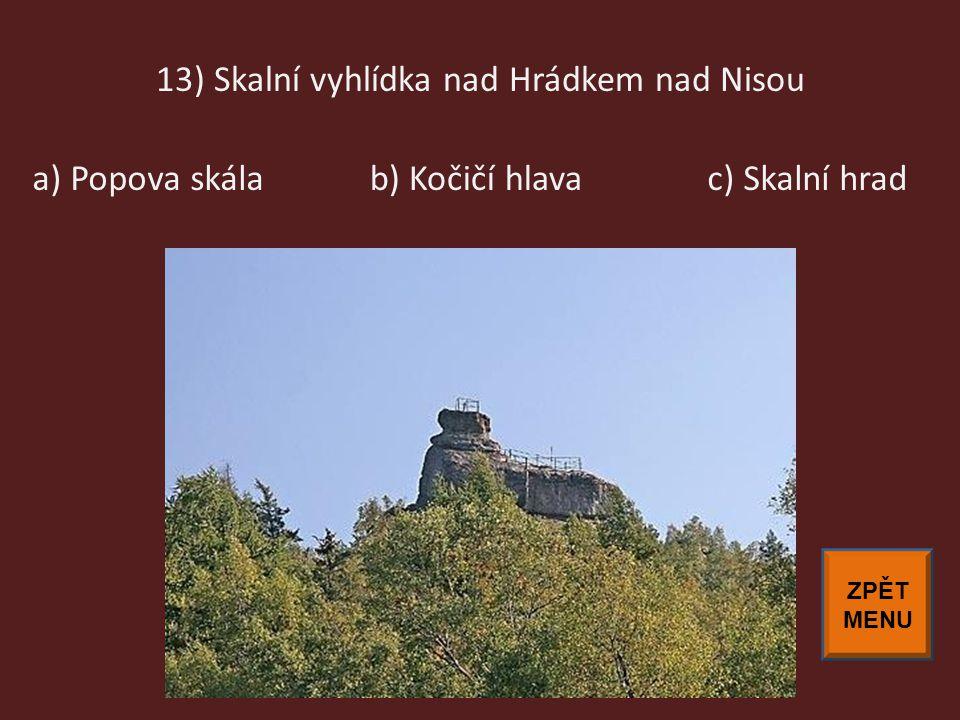 13) Skalní vyhlídka nad Hrádkem nad Nisou
