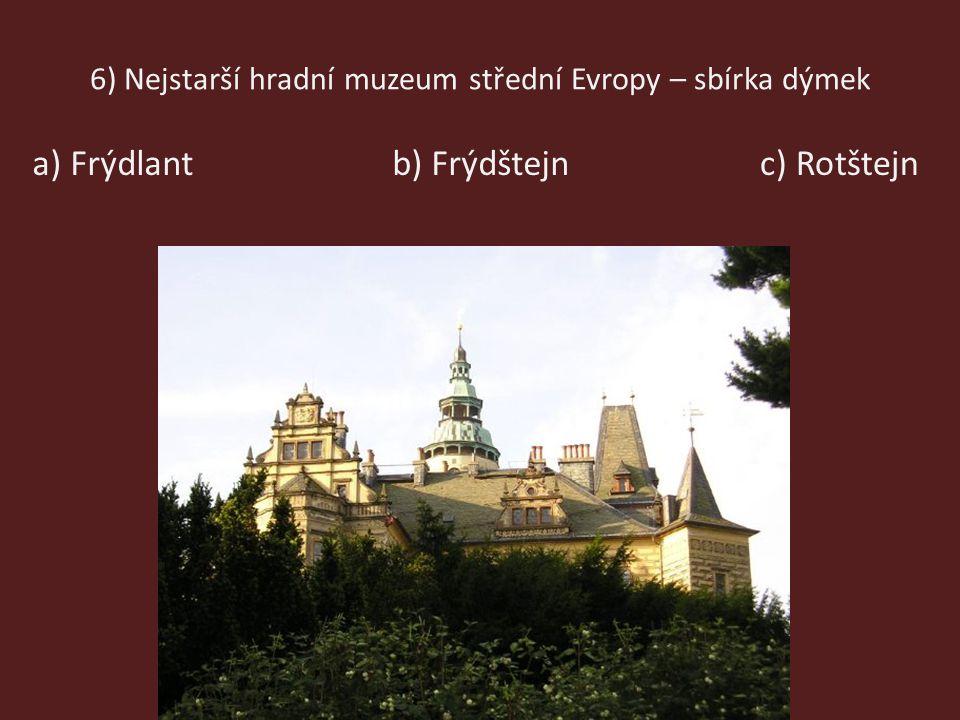 6) Nejstarší hradní muzeum střední Evropy – sbírka dýmek