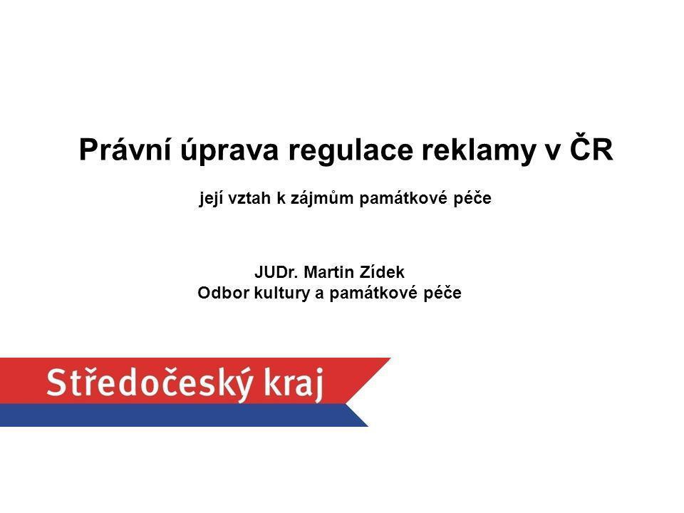 Právní úprava regulace reklamy v ČR