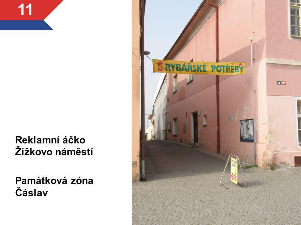 Reklamní áčko Žižkovo náměstí