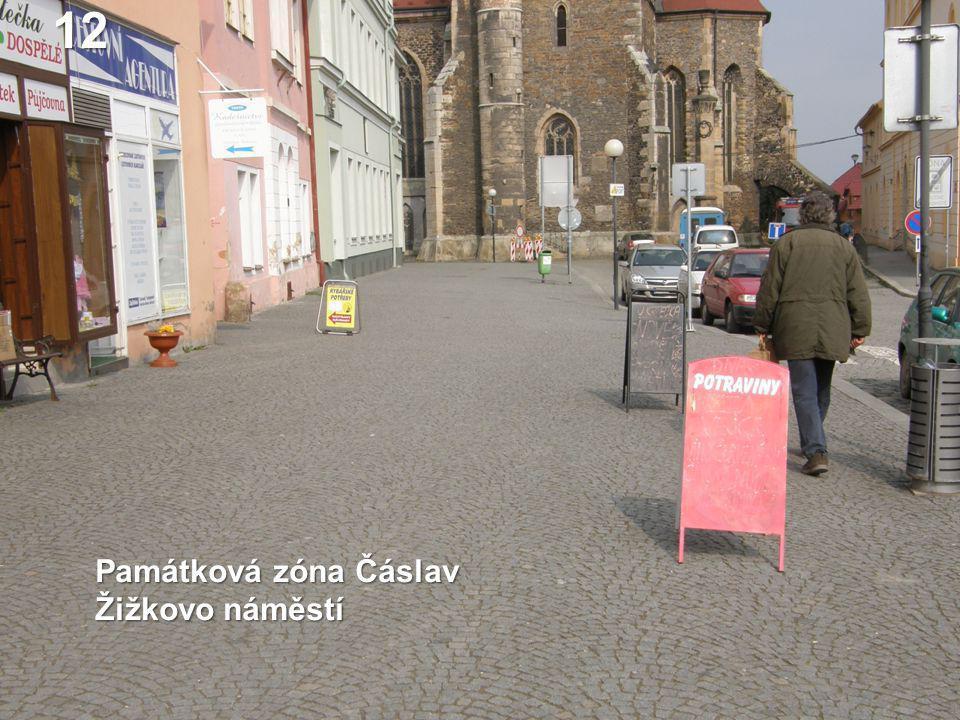 Památková zóna Čáslav Žižkovo náměstí