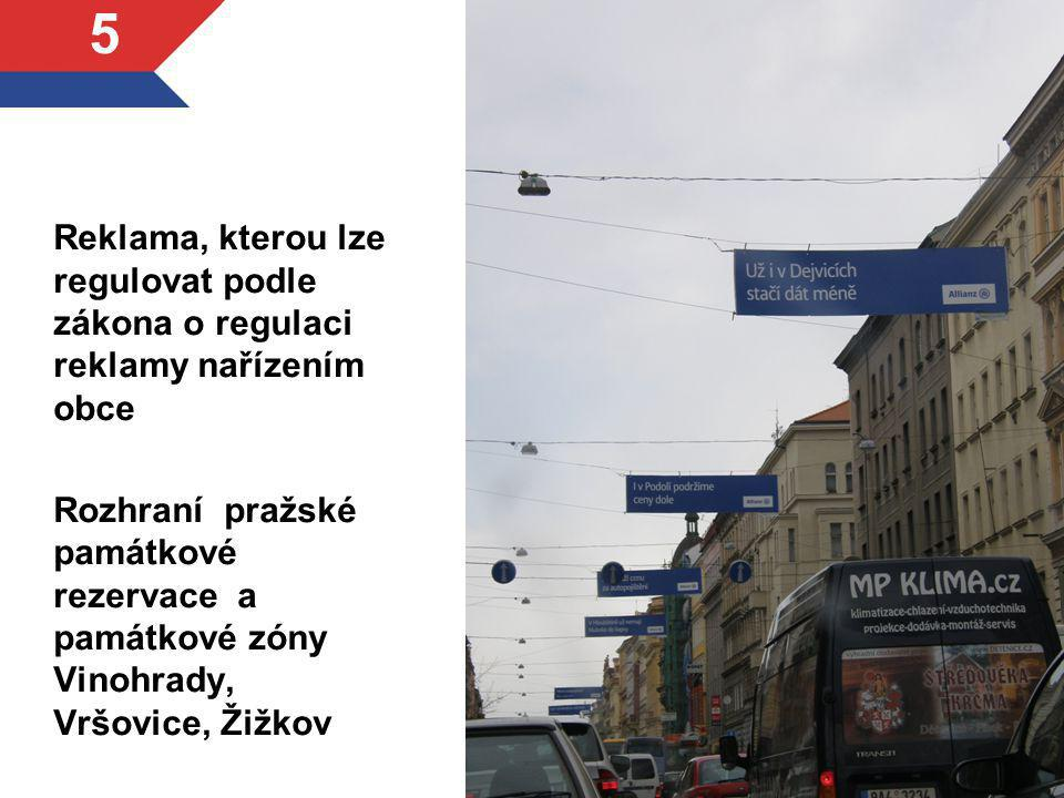 Reklama, kterou lze regulovat podle zákona o regulaci reklamy nařízením obce