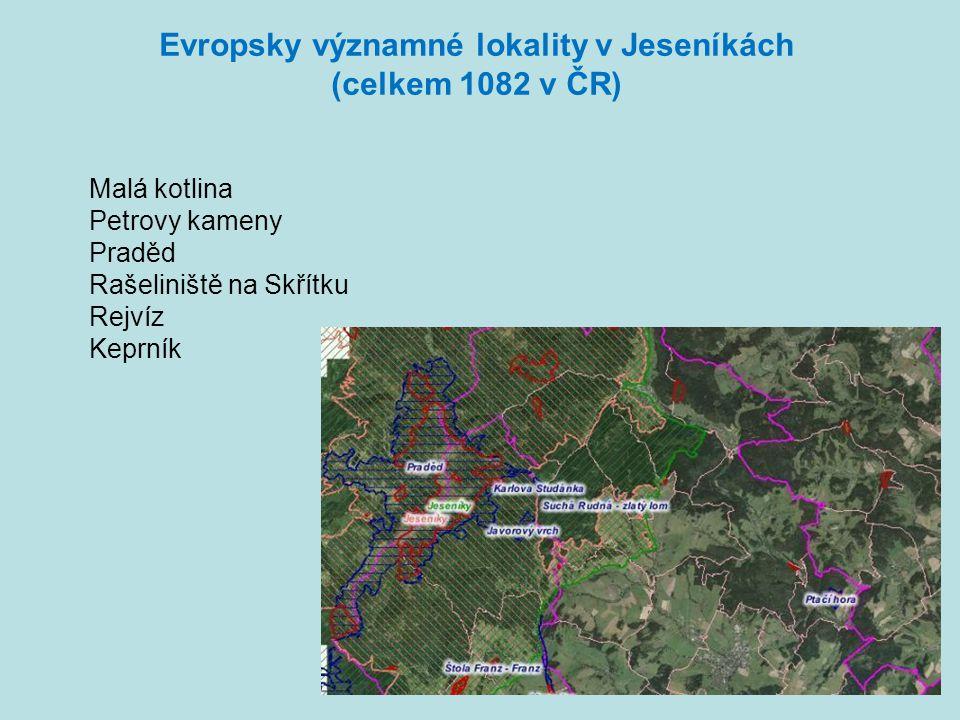 Evropsky významné lokality v Jeseníkách