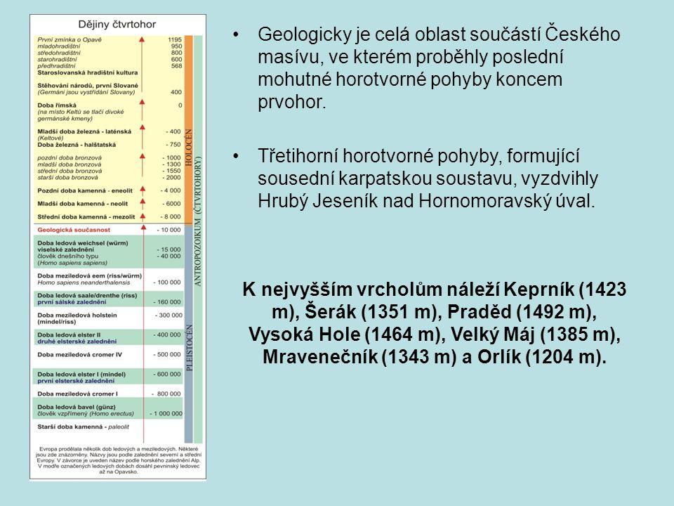 Geologicky je celá oblast součástí Českého masívu, ve kterém proběhly poslední mohutné horotvorné pohyby koncem prvohor.