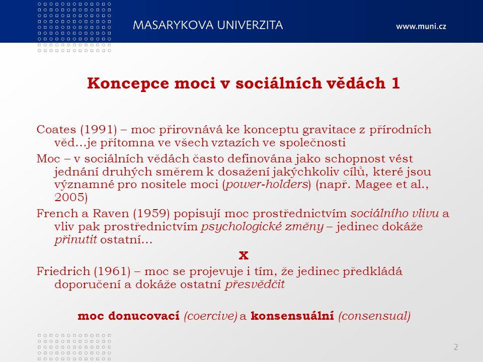 Koncepce moci v sociálních vědách 1