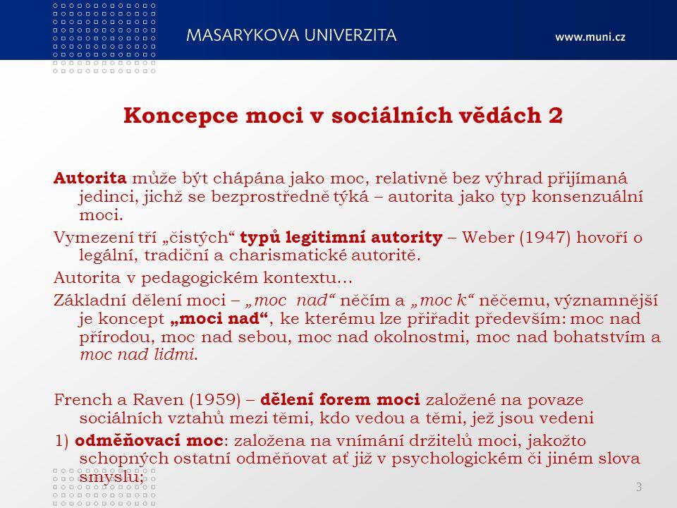 Koncepce moci v sociálních vědách 2