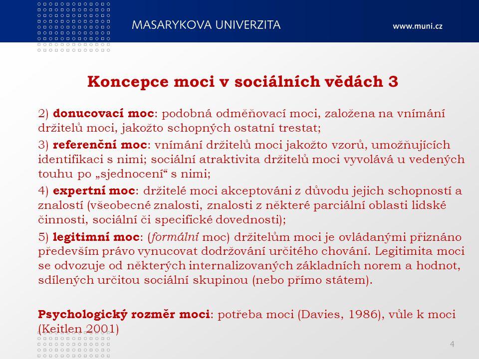 Koncepce moci v sociálních vědách 3