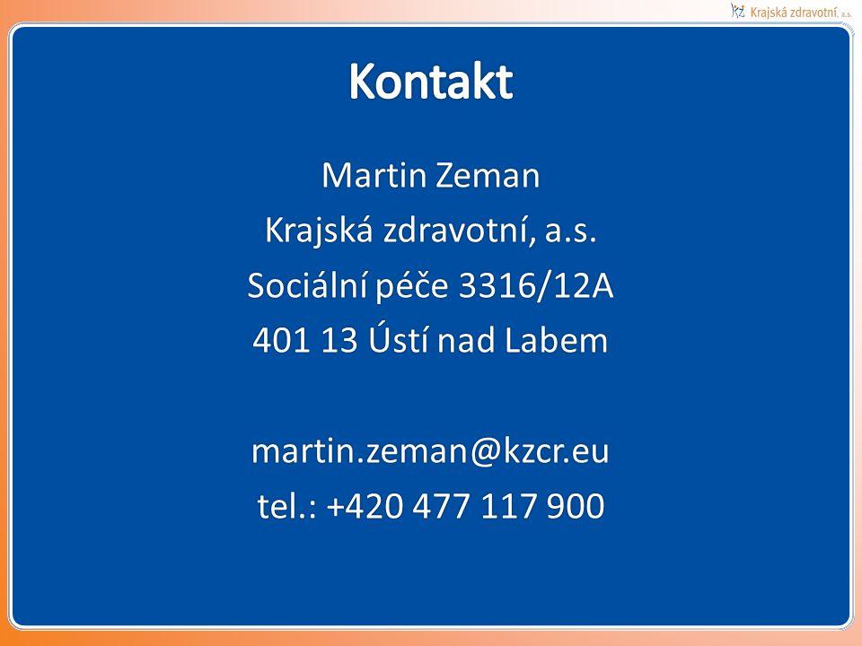 Kontakt Martin Zeman Krajská zdravotní, a.s.