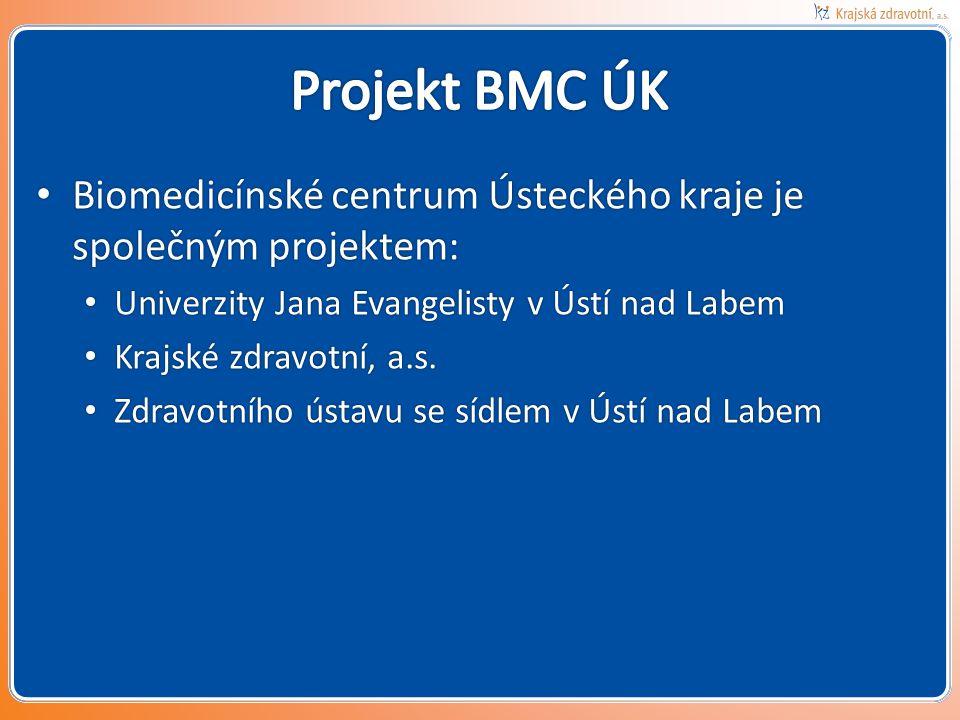Projekt BMC ÚK Biomedicínské centrum Ústeckého kraje je společným projektem: Univerzity Jana Evangelisty v Ústí nad Labem.