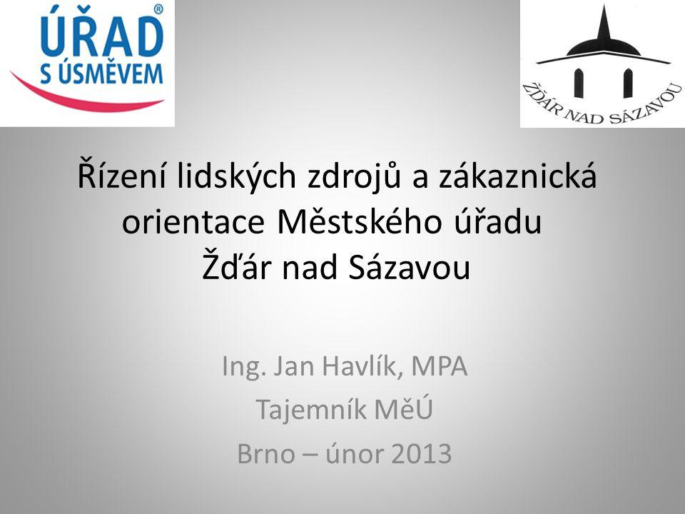 Ing. Jan Havlík, MPA Tajemník MěÚ Brno – únor 2013