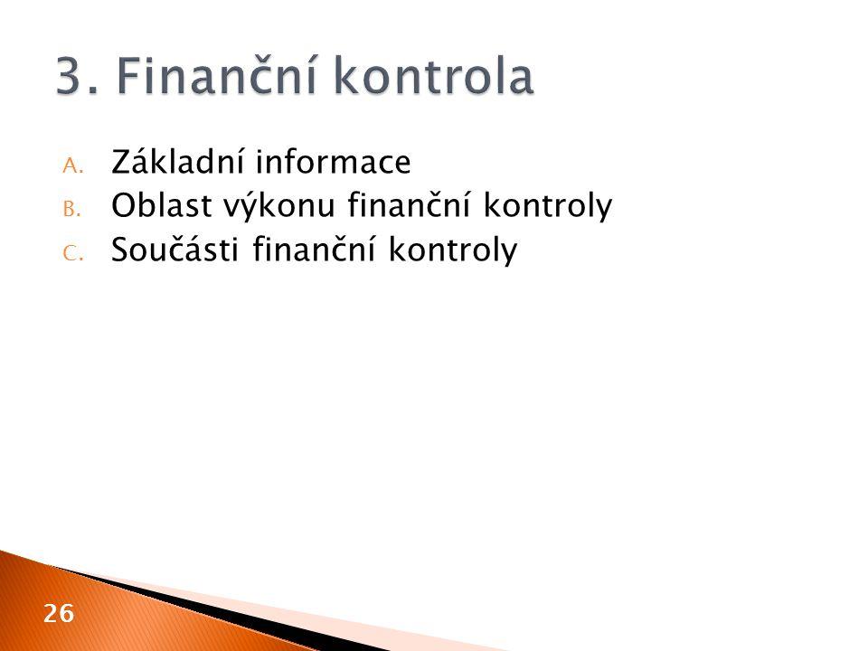3. Finanční kontrola Základní informace