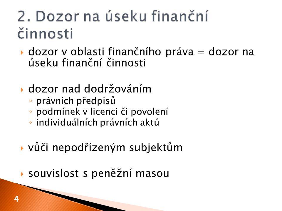 2. Dozor na úseku finanční činnosti