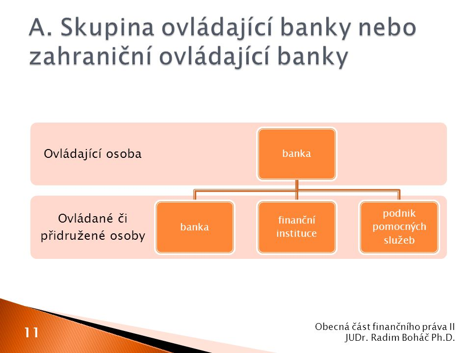 A. Skupina ovládající banky nebo zahraniční ovládající banky